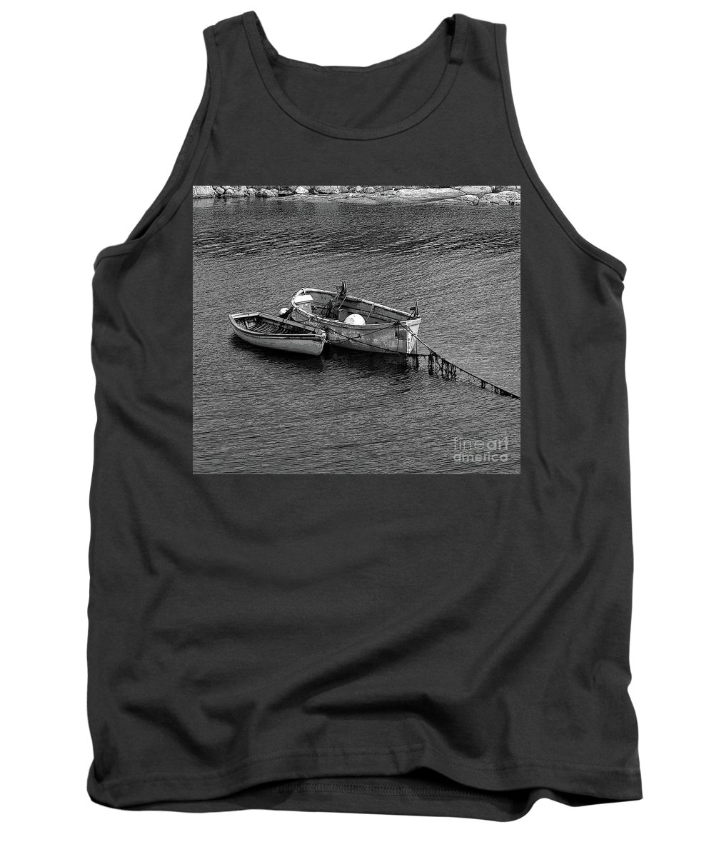 #rowboat #water Tank Top featuring the photograph Two Old Rowboats by Kathleen Struckle