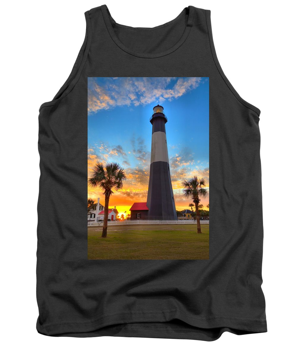 9509 Tank Top featuring the photograph Tybee Island Sunrise by Gordon Elwell
