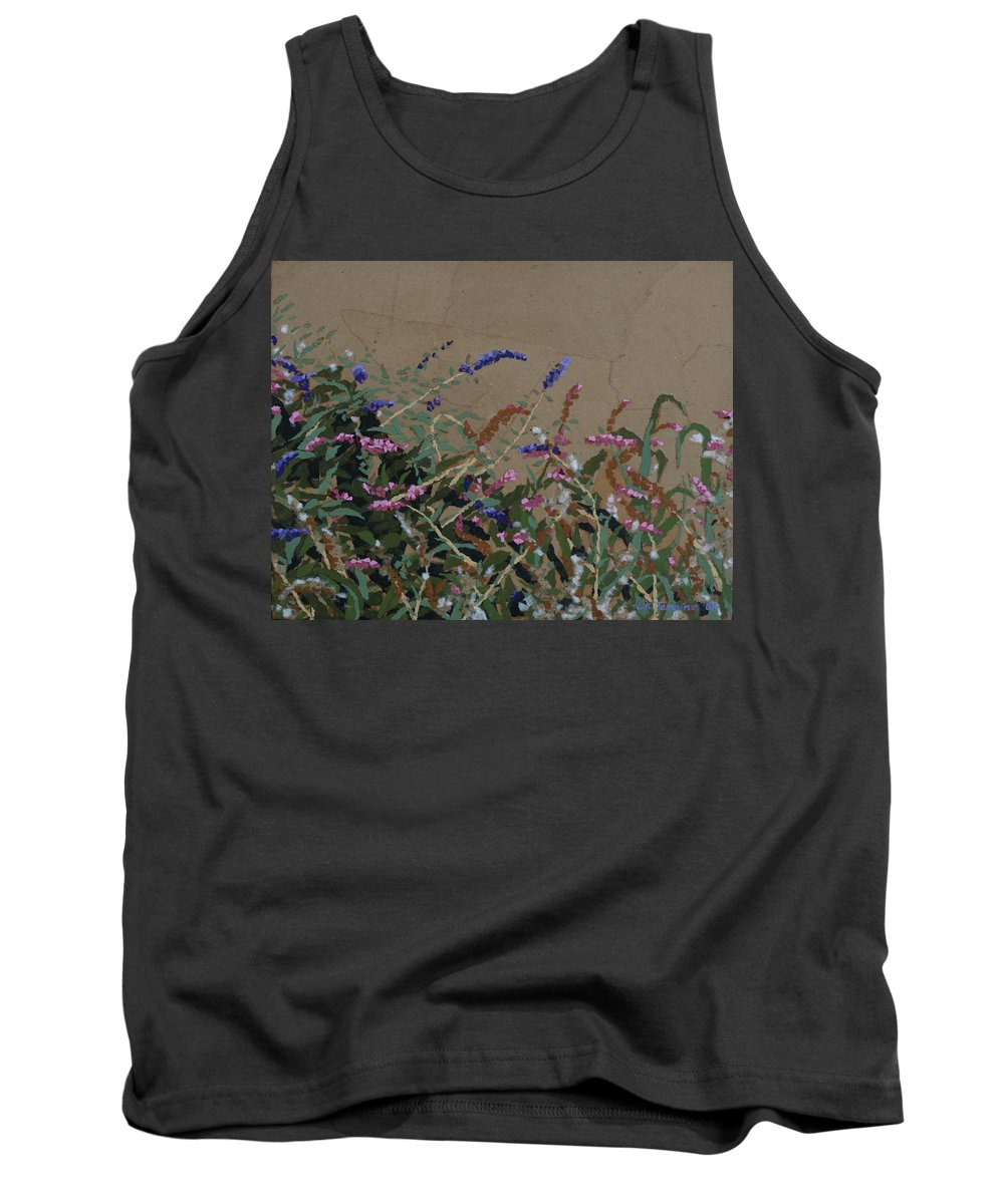Flowering Butterfly Bush Tank Top featuring the painting Tyler by Leah Tomaino