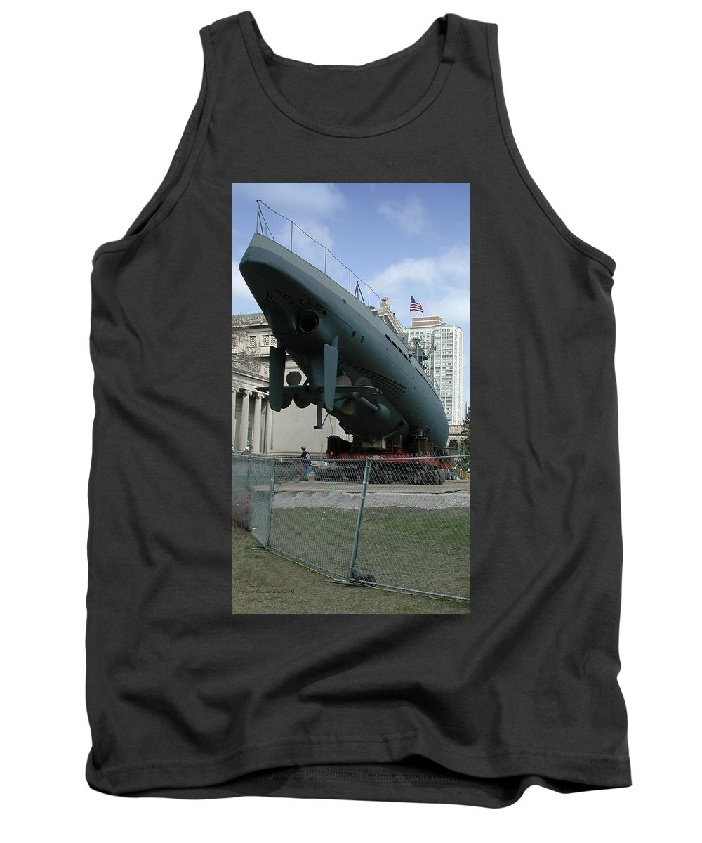 Navy Tank Top featuring the photograph U 505 German Submarine by Thomas Woolworth