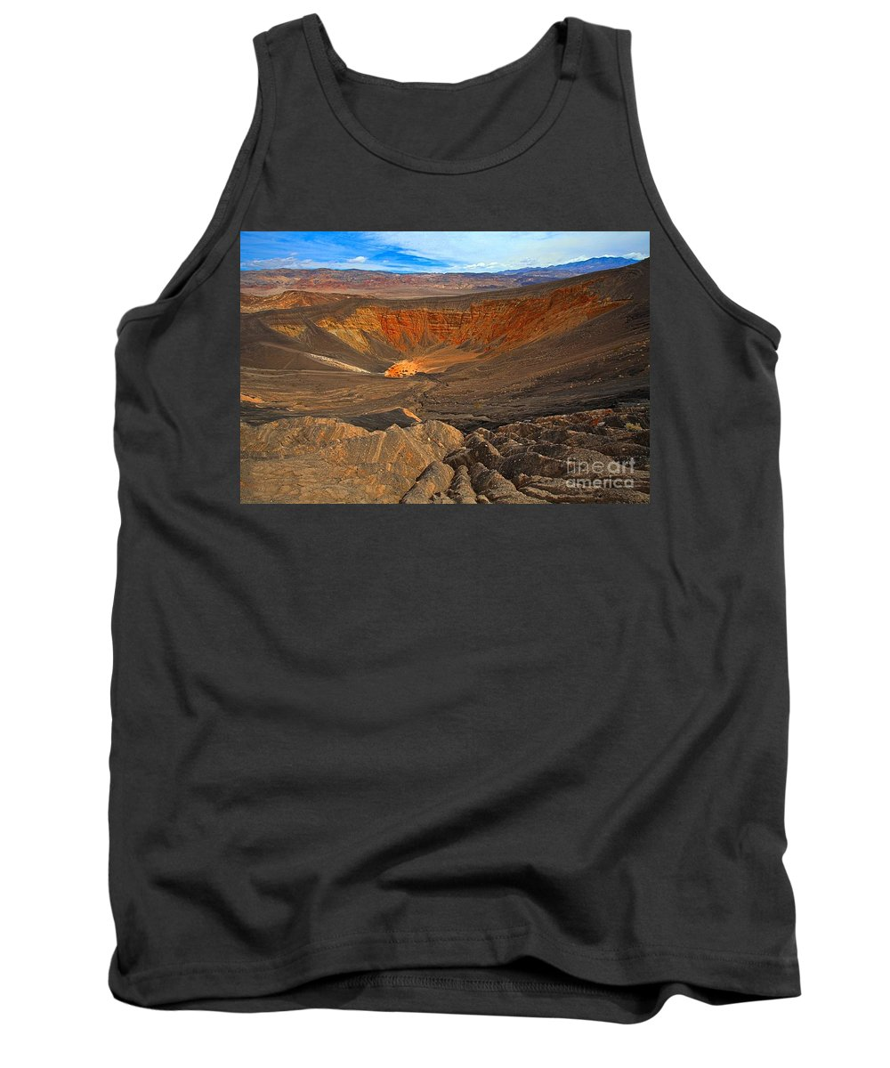 Ubehebe Crater Tank Top featuring the photograph Ubehebe At Death Valley by Adam Jewell