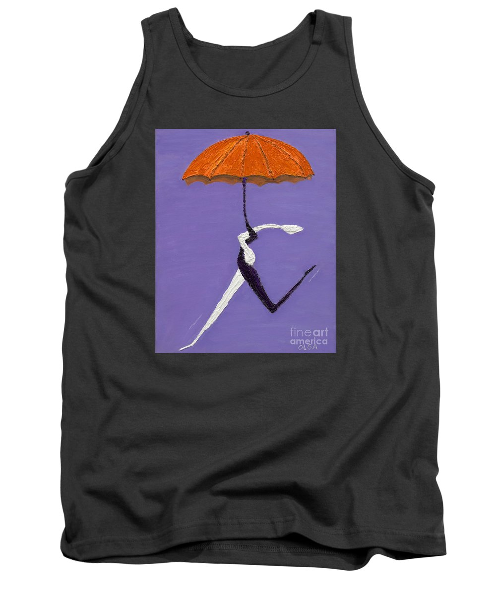 Umbrella Tank Top featuring the painting Umbrella by Olga Alexeeva