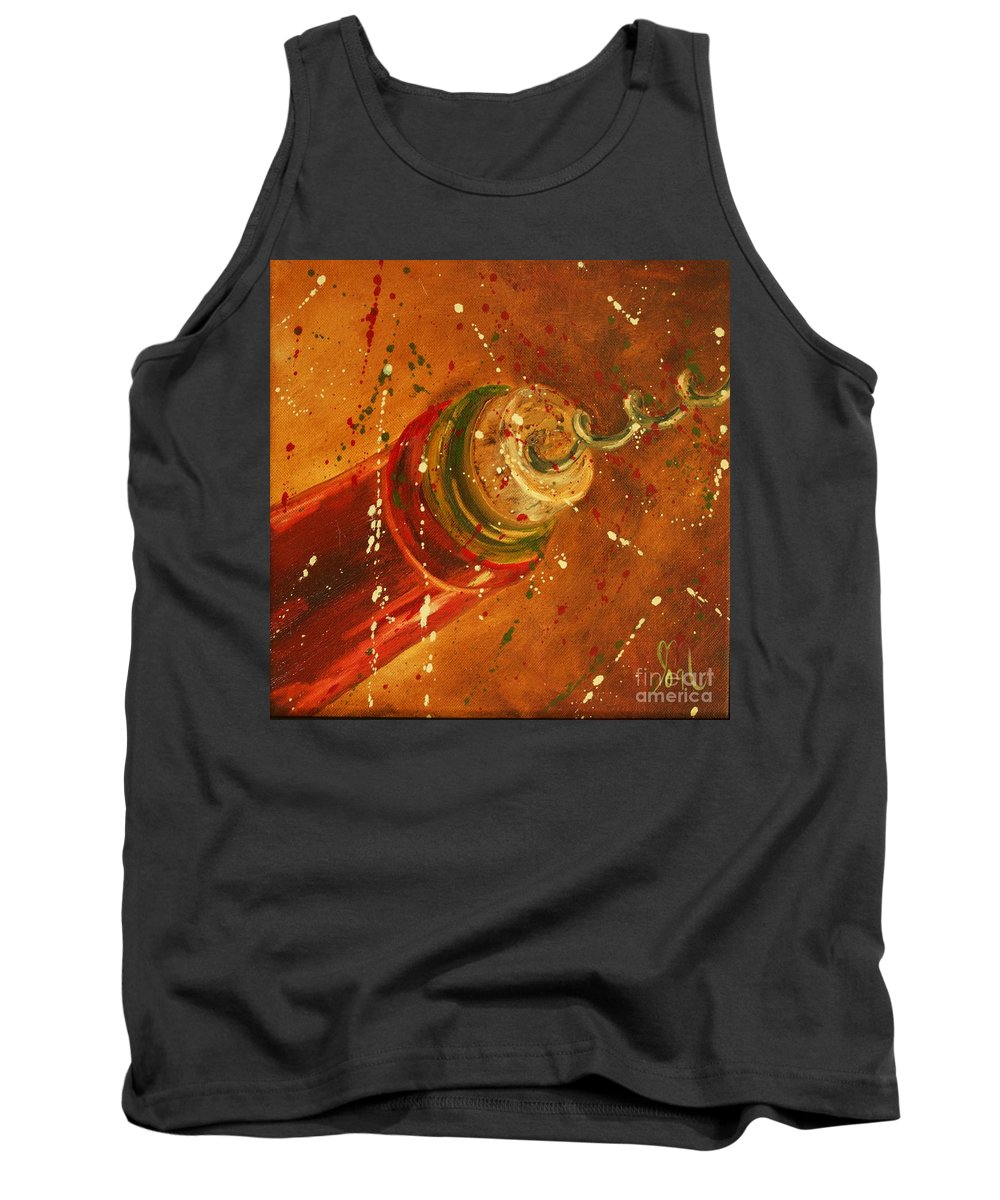Wine Tank Top featuring the painting Uncorked by Jodi Monahan