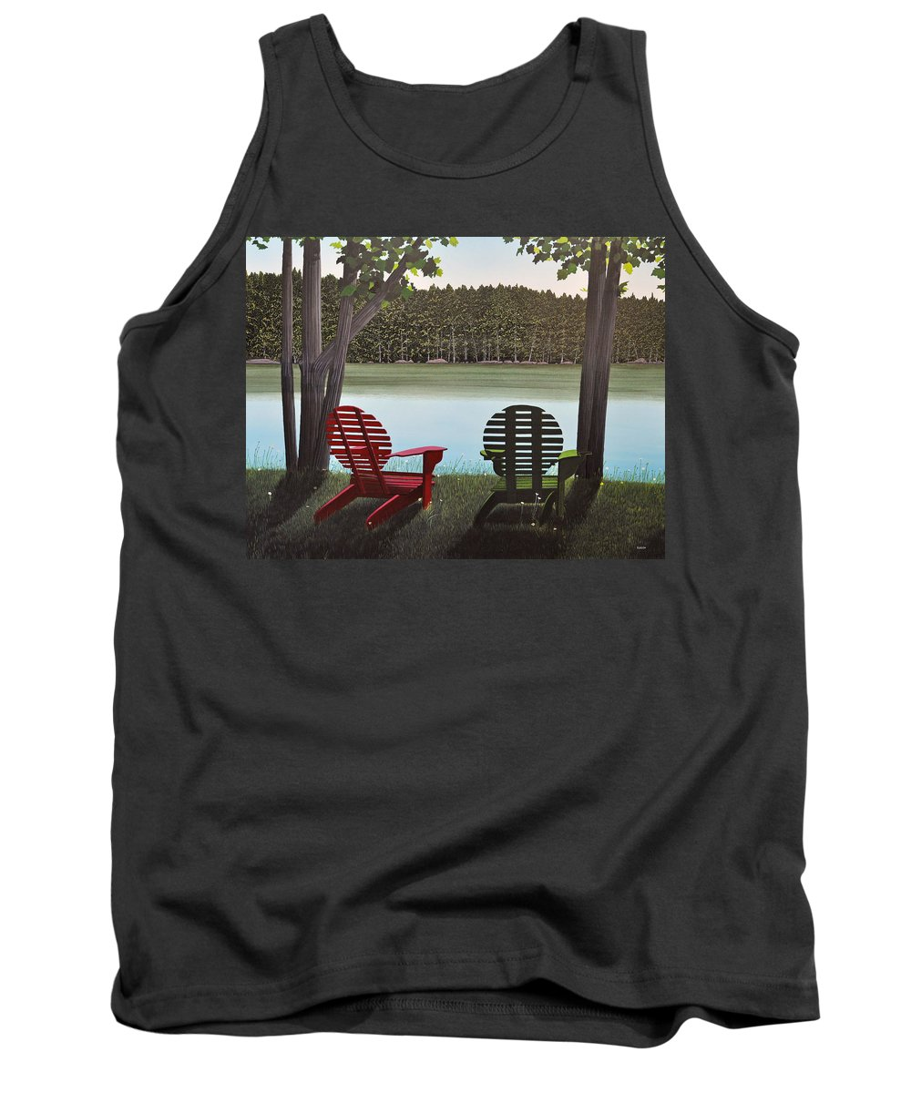 Landscapes Tank Top featuring the painting Under Muskoka Trees by Kenneth M Kirsch