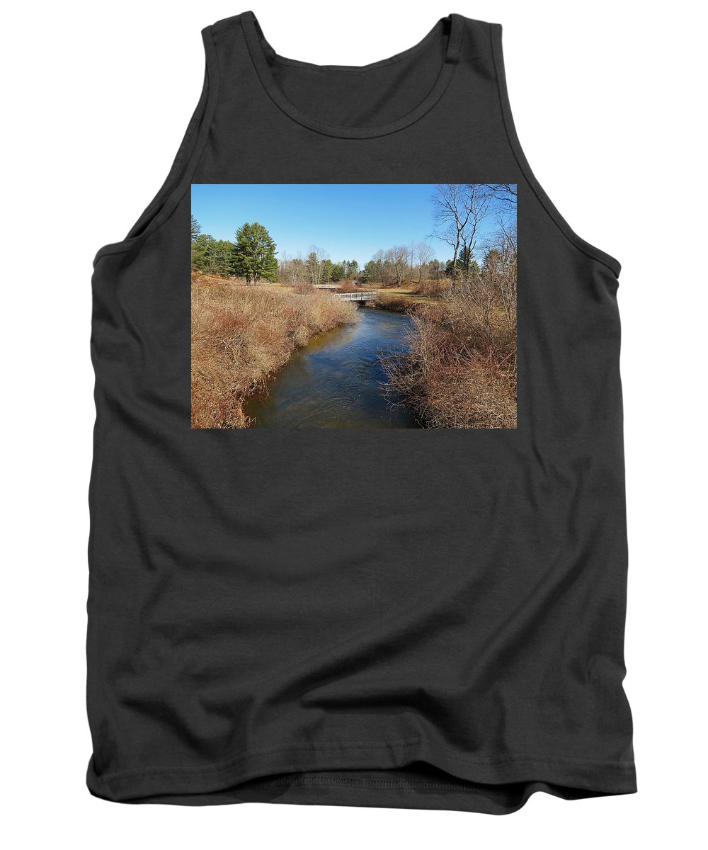 Ash Brook Tank Top featuring the photograph Under The Bridges by MTBobbins Photography