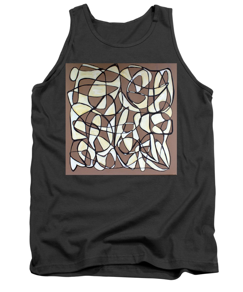 Abstract Tank Top featuring the painting Untitled 44 by Steven Miller