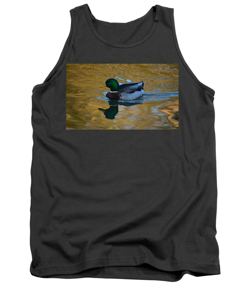 Upon Sunset Waters Tank Top featuring the photograph Upon Sunset Waters by Maria Urso