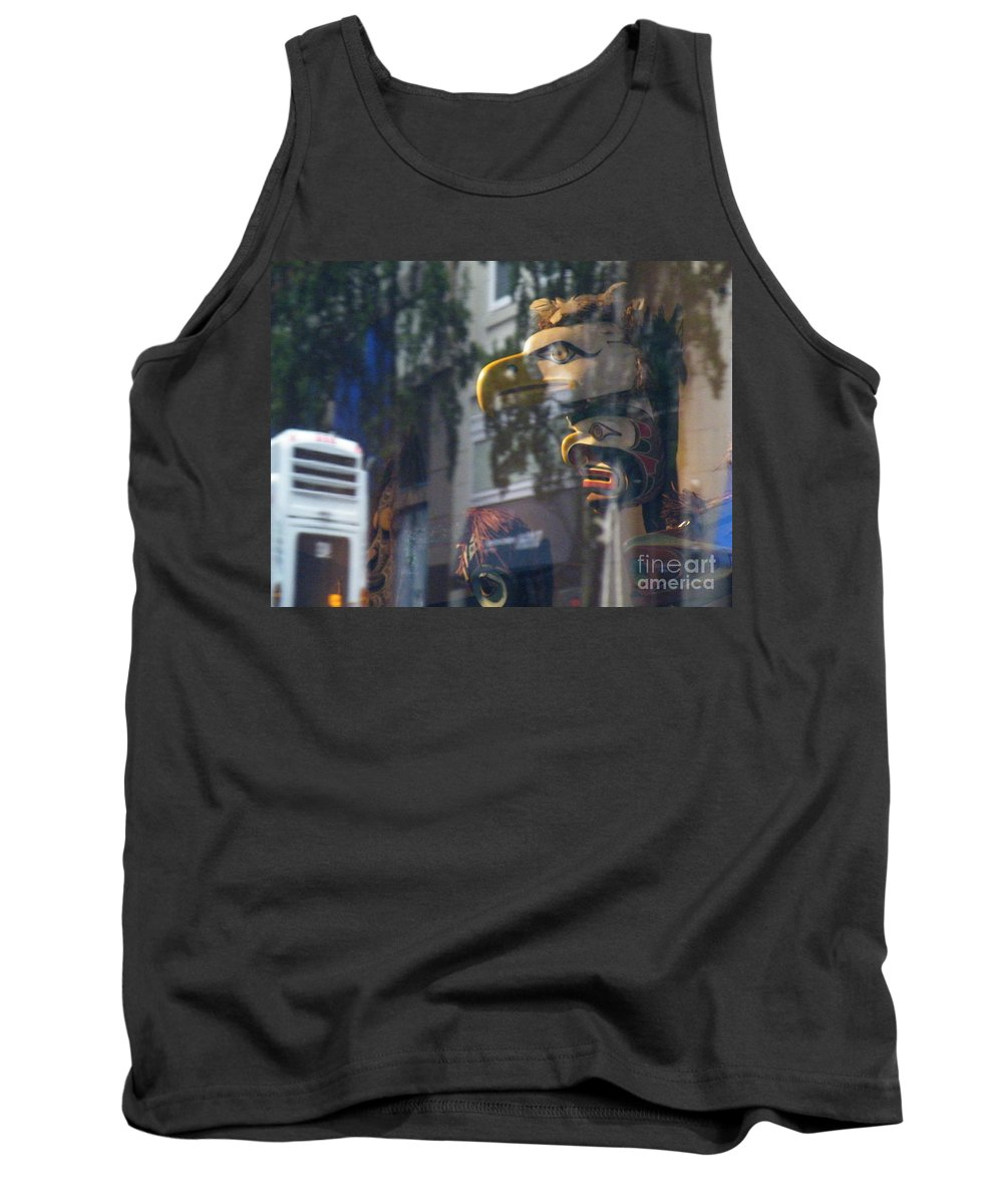 Urban Tank Top featuring the photograph Urban Indian Symbolism by Brian Boyle