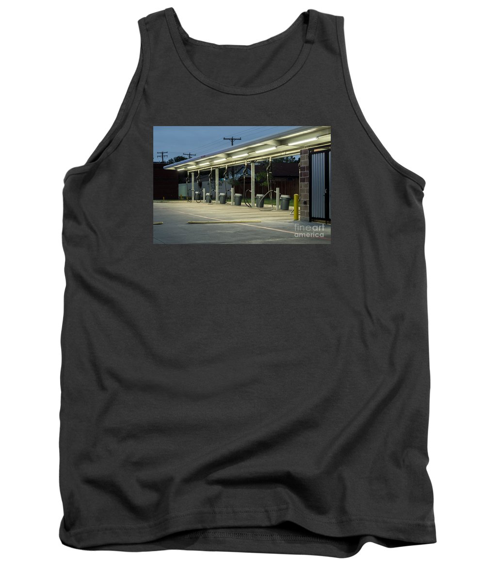 Vacuum Tank Top featuring the photograph Vacuums At Car Wash by Imagery by Charly
