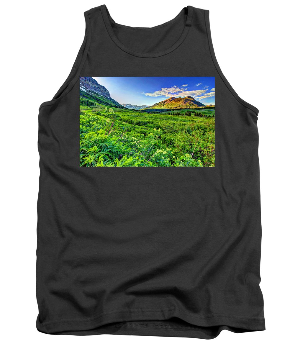 Colorado Tank Top featuring the photograph Valley View by Scott Mahon