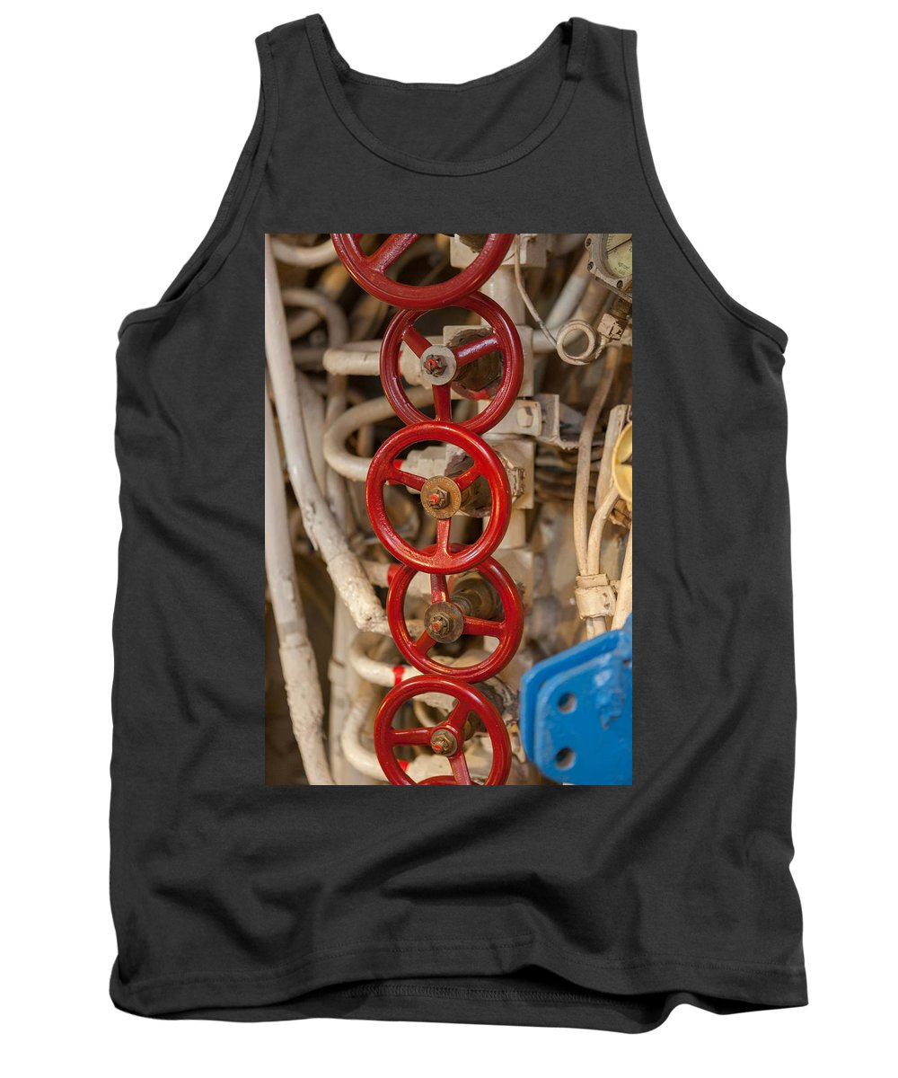Handle Tank Top featuring the photograph Valves Valves And More Valves by Scott Campbell