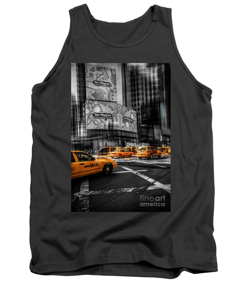 Nyc Tank Top featuring the photograph Van Wagner - Colorkey by Hannes Cmarits