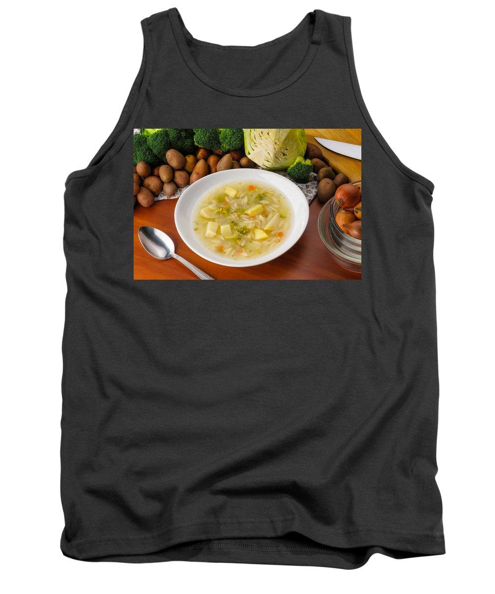 Cuisine Tank Top featuring the photograph Vegetable Soup by Alain De Maximy