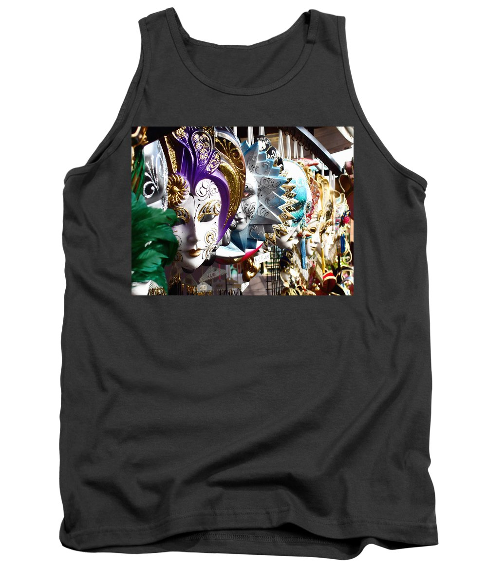 Venetian Masks Tank Top featuring the photograph Venetian Masks 1 by Ellen Henneke