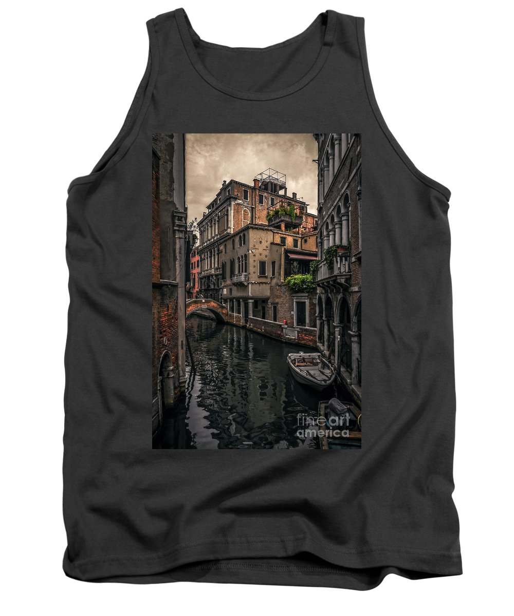 Italy Tank Top featuring the photograph Venice Canal 8 by Paul Woodford