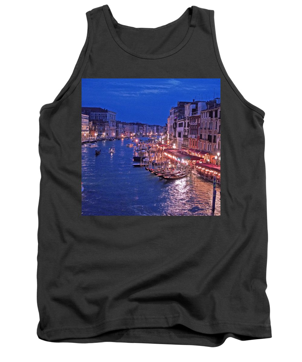 Venice Tank Top featuring the photograph Venice - Canale Grande By Night by M Bleichner