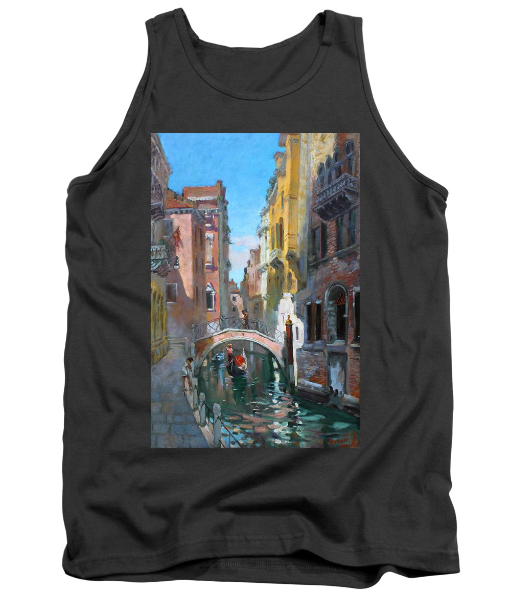 Venice Tank Top featuring the painting Venice Italy by Ylli Haruni