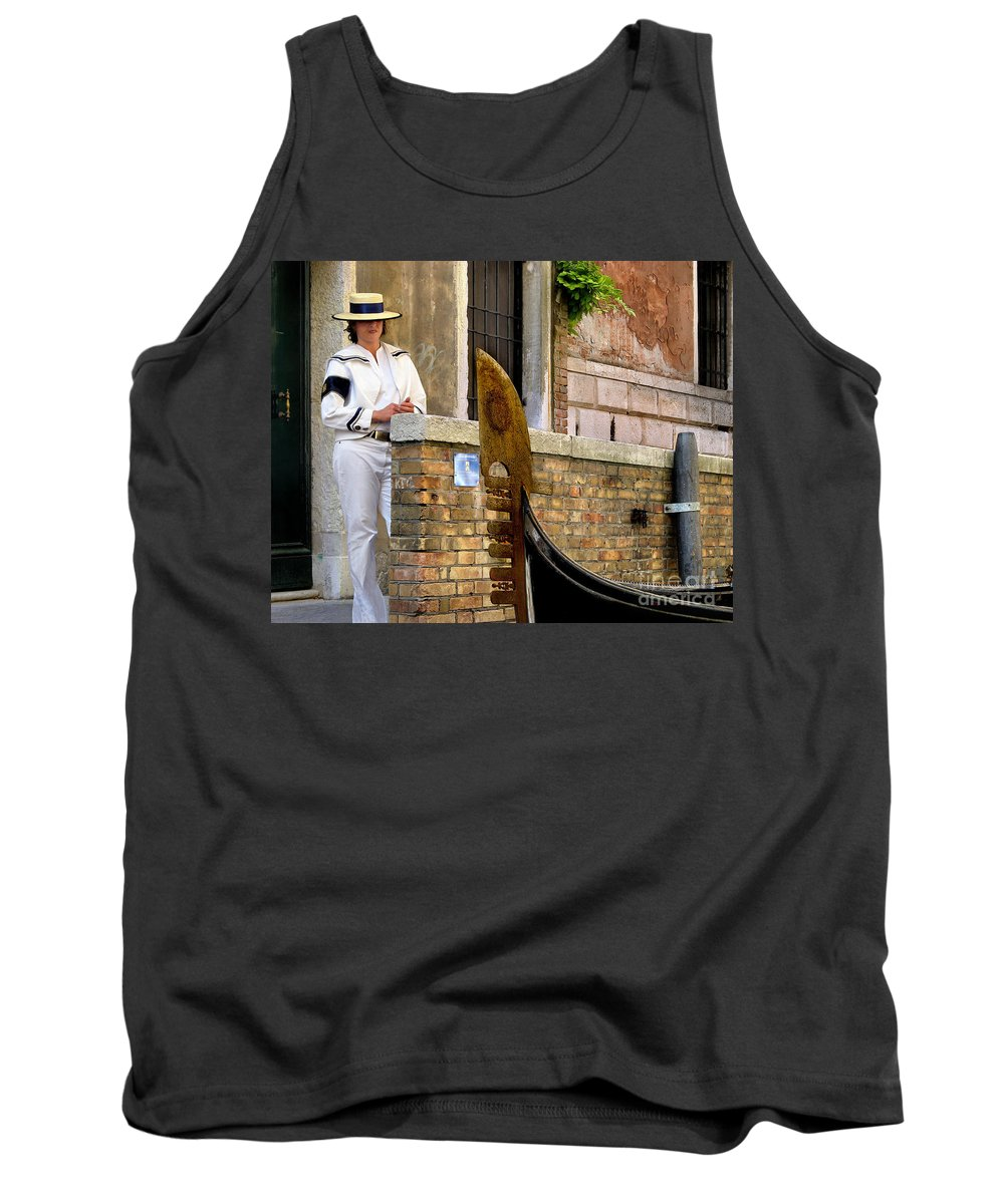 Venice Tank Top featuring the photograph Venice Valet by Jennie Breeze