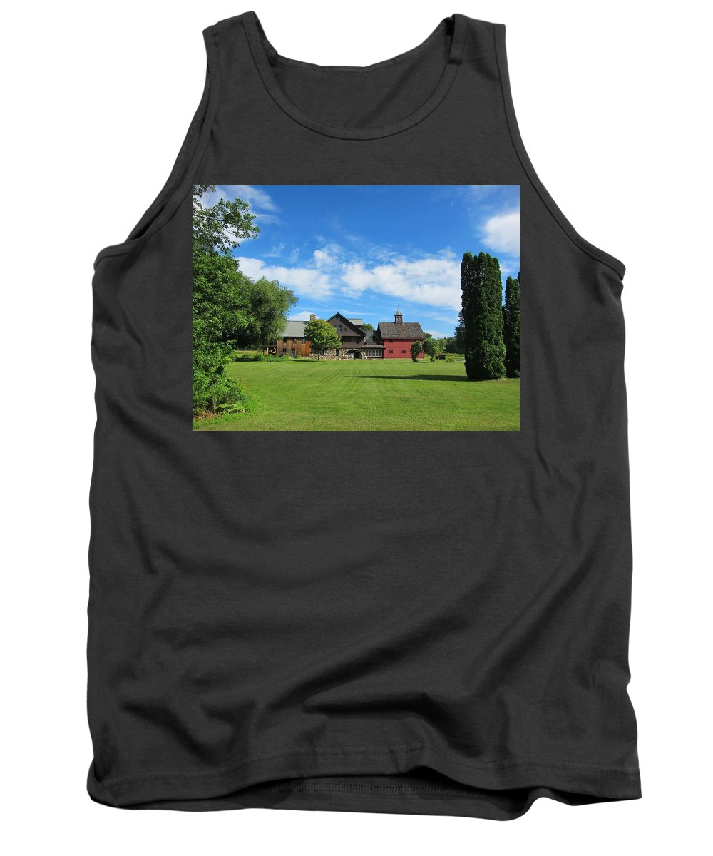 Home Tank Top featuring the photograph Vermont Country Home by Gordon Cain