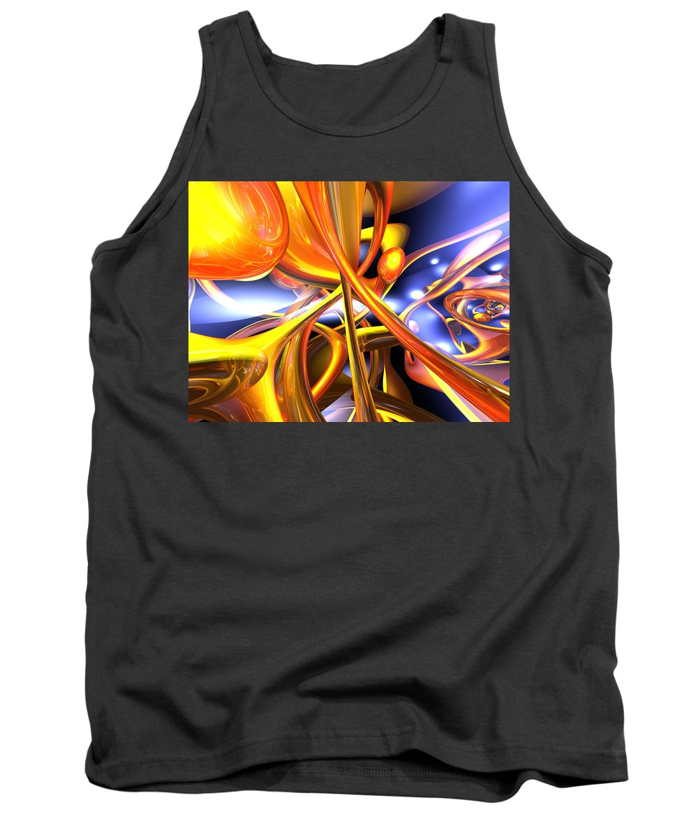 3d Tank Top featuring the digital art Vibrant Love Abstract by Alexander Butler