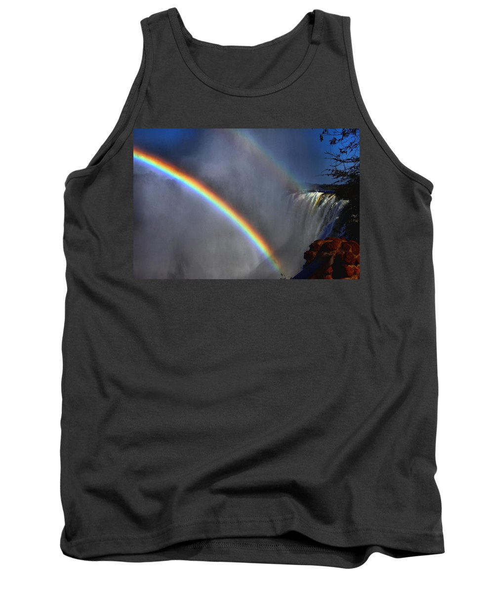 Vic-falls Tank Top featuring the photograph Smoking Thunder by Martin Michael Pflaum