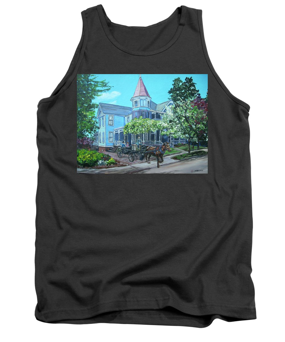 Victorian Tank Top featuring the painting Victorian Greenville by Bryan Bustard