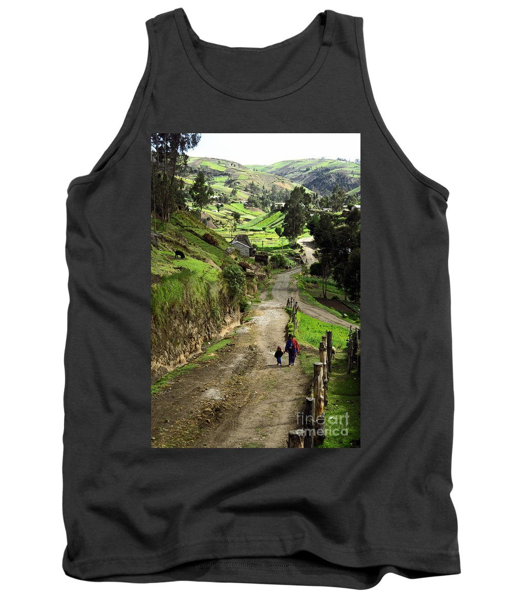 Ecuador Tank Top featuring the photograph View Of Lupaxi by Kathy McClure