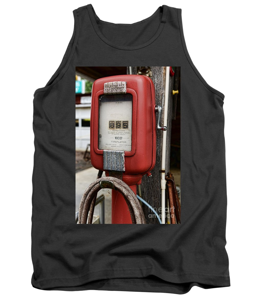 Paul Ward Tank Top featuring the photograph Vintage Gas Station Air Pump 1 by Paul Ward