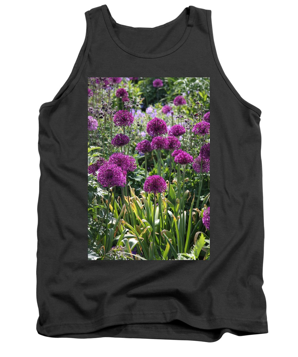 Flowers Tank Top featuring the photograph Violet Flowerbed by Christiane Schulze Art And Photography