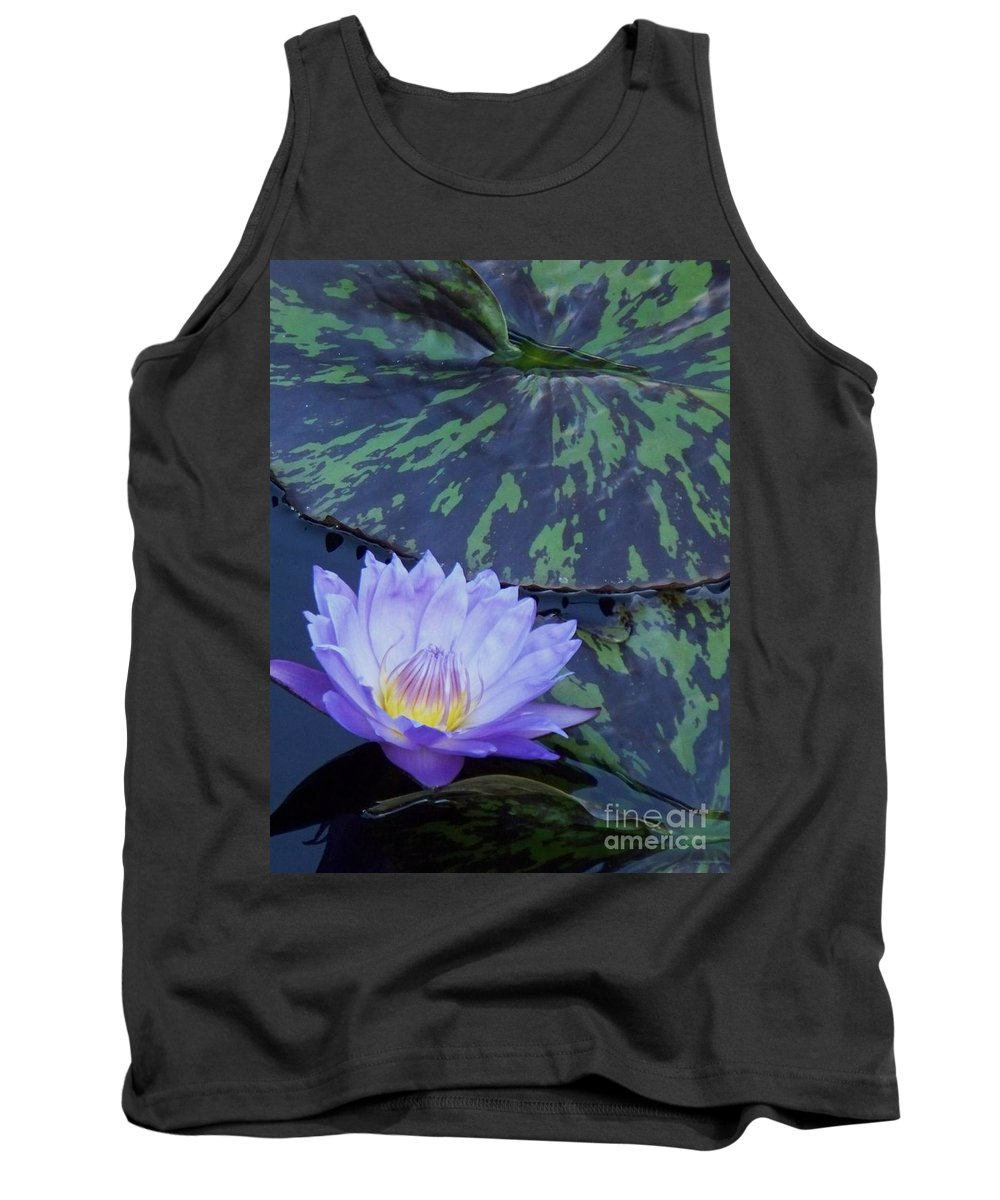 Water Lilies Tank Top featuring the photograph Violet Lily by Eric Schiabor