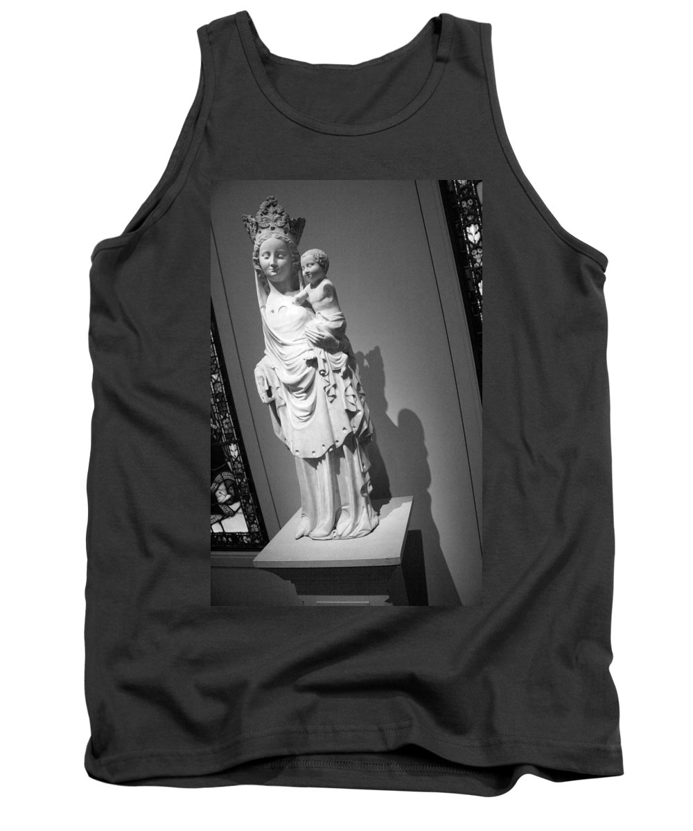Virgin Tank Top featuring the photograph Virgin And Child by Cora Wandel