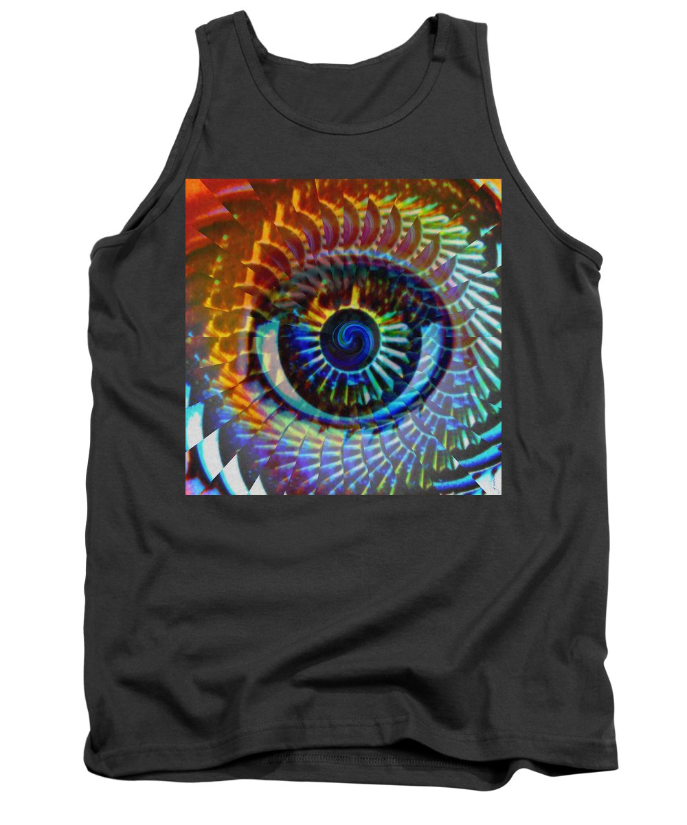 Abstract Tank Top featuring the photograph Visionary by Gwyn Newcombe