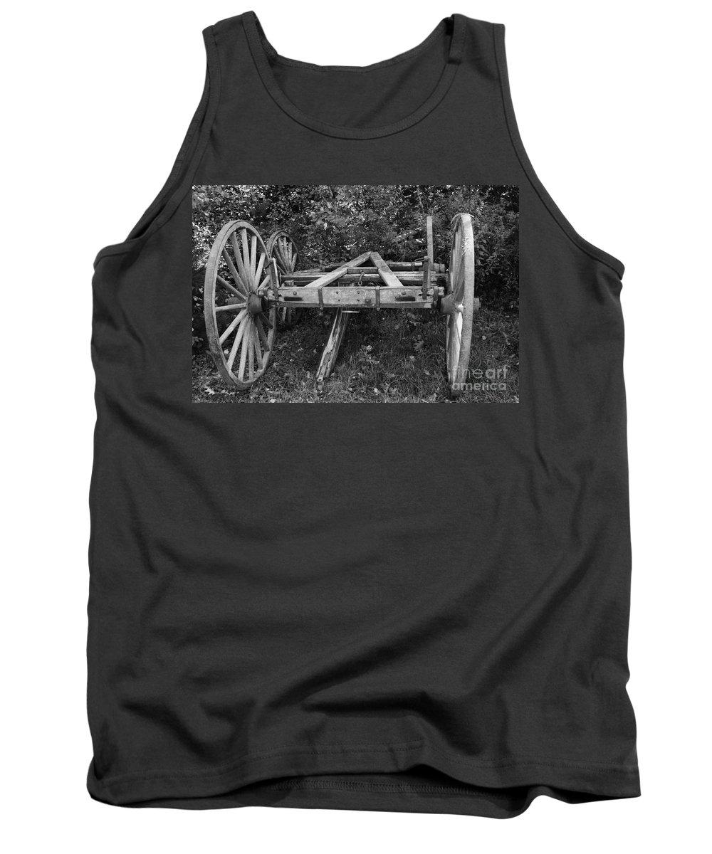 Wagon Wheel Tank Top featuring the photograph Wagon Wheels by Joseph Marquis