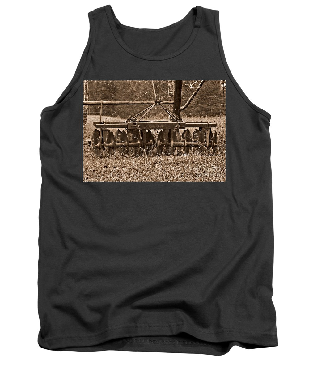 Farm Tank Top featuring the photograph Waiting by Liz Masoner