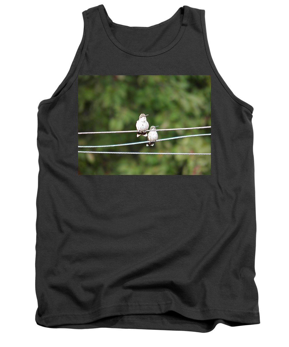 Humming Tank Top featuring the photograph Waiting Our Turn 2 by Nick Kirby