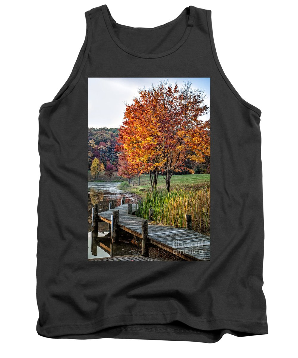 2012 Tank Top featuring the photograph Walk Into Fall by Ronald Lutz