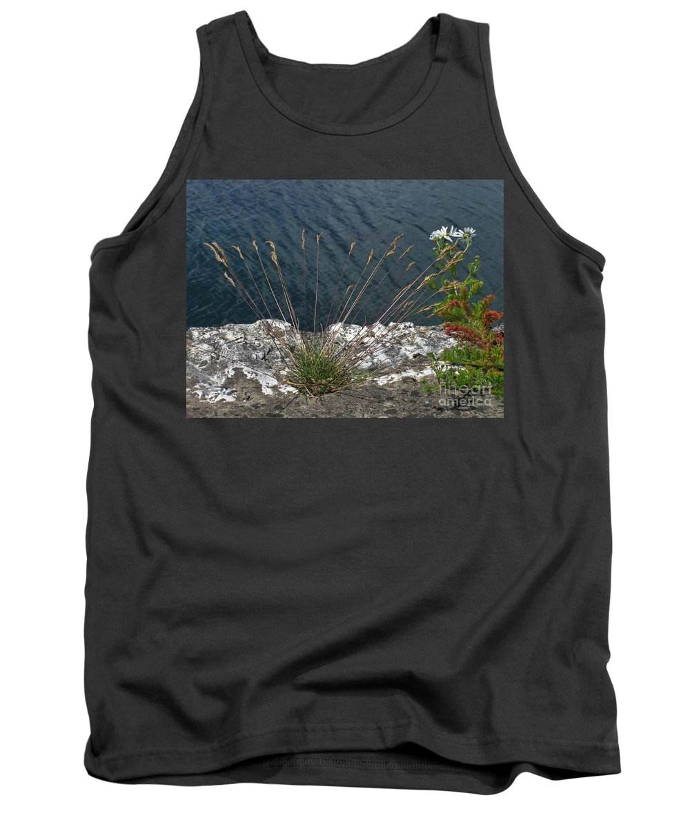 Landscape Tank Top featuring the photograph Flowers In Rock by Brenda Brown