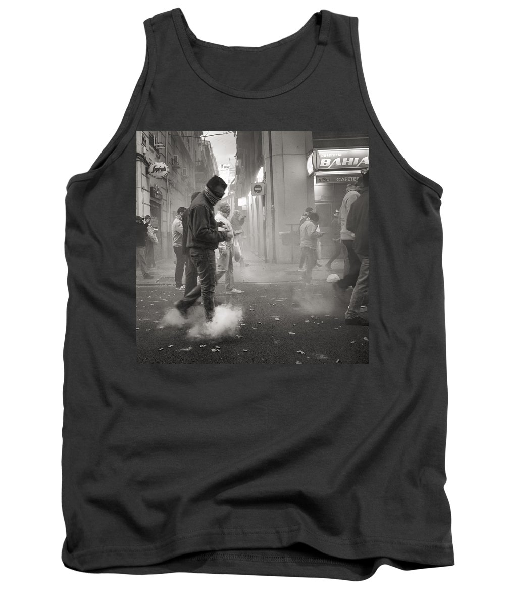 Valencia Tank Top featuring the photograph Walking On Clouds In Valencia by For Ninety One Days