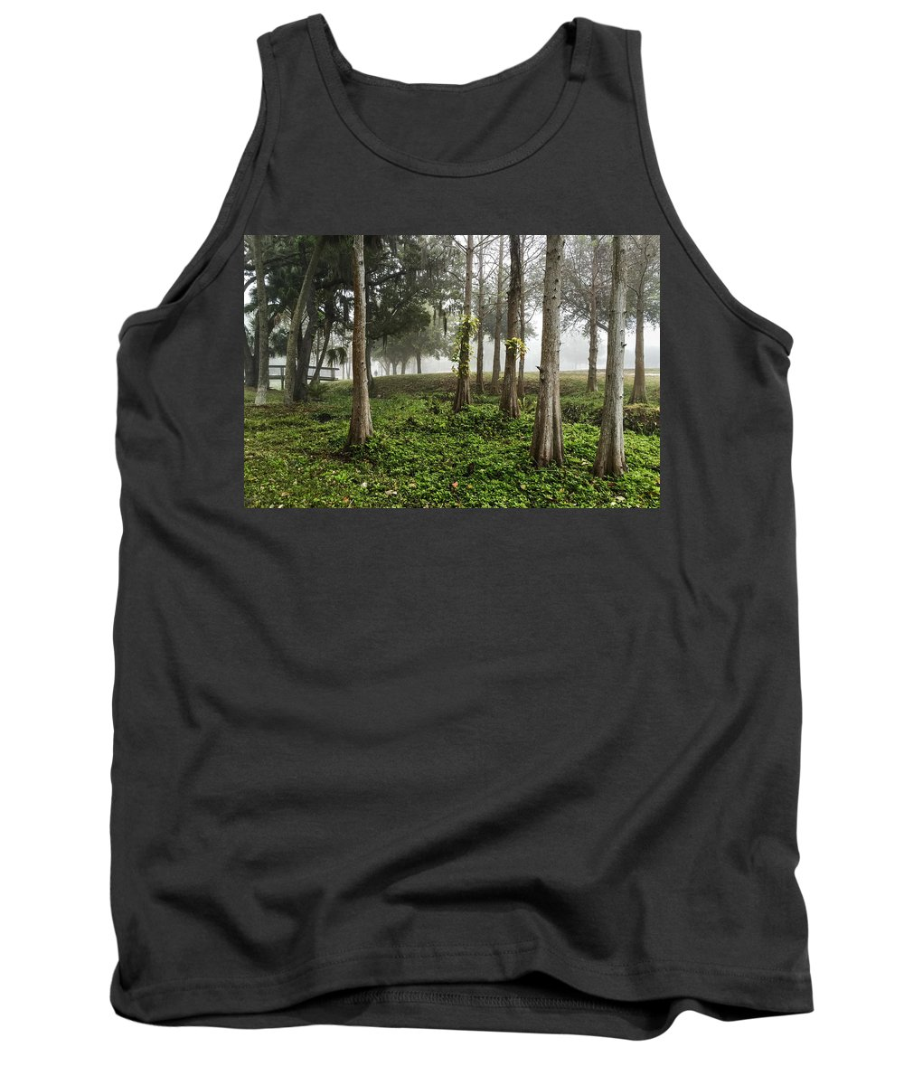 Bald Tank Top featuring the photograph Walking The Dog In Pioneer Park by Richard Goldman