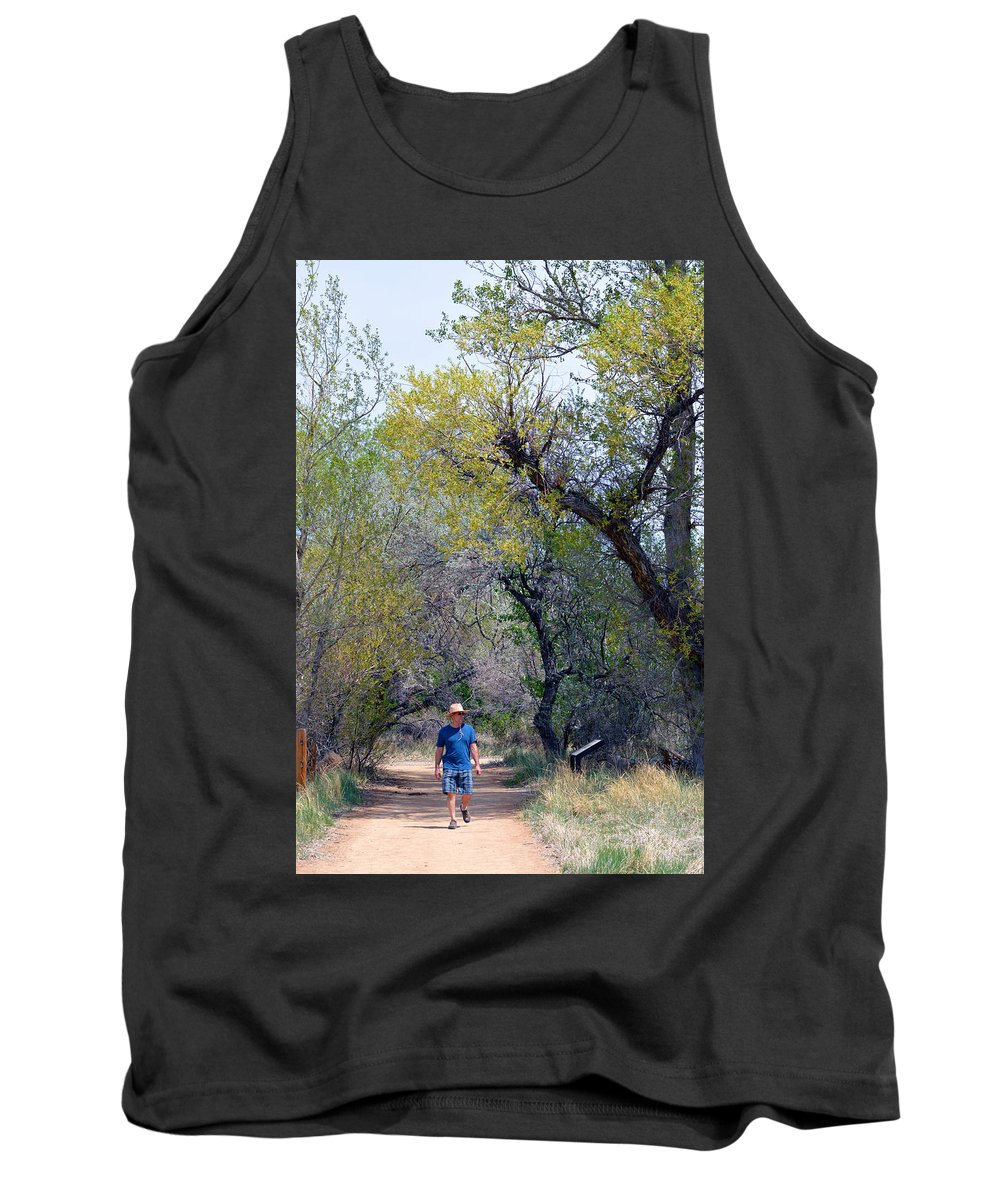 Man Tank Top featuring the photograph Walking The Path by Brent Dolliver