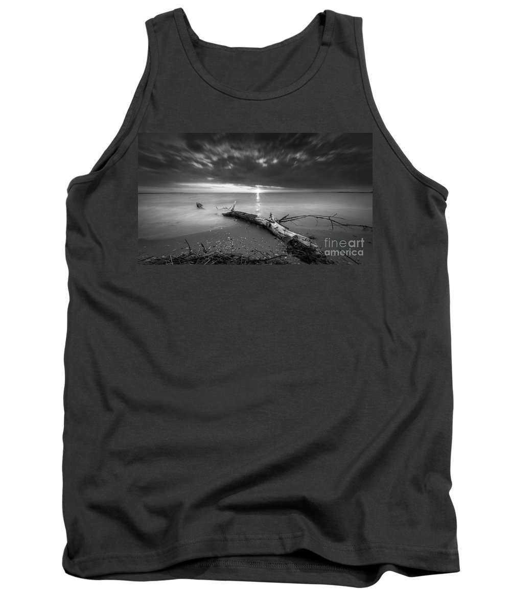 Life Of A Drifter Tank Top featuring the photograph Washed Up Bw by Michael Ver Sprill