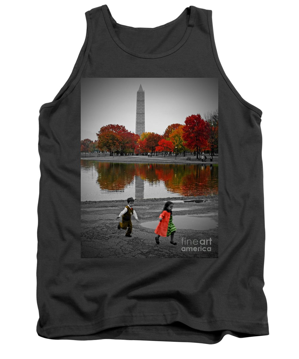 Fall Tank Top featuring the photograph Washington Fall Children by Jost Houk