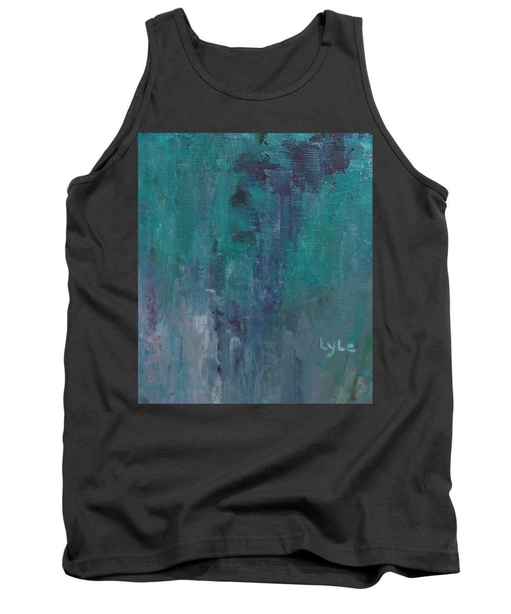 Abstract Tank Top featuring the painting Wataer Fall by Lord Frederick Lyle Morris