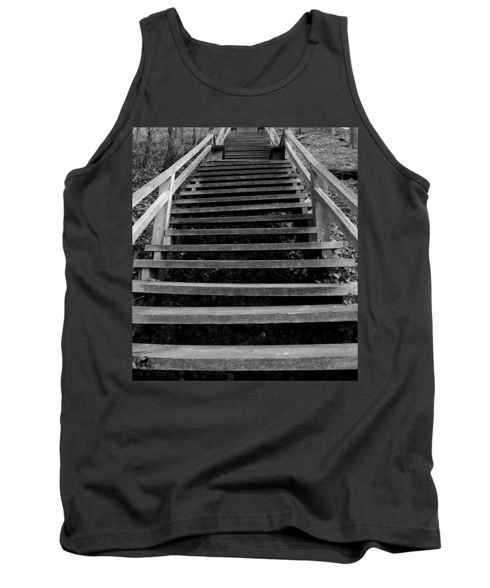 Wooden Tank Top featuring the photograph Watch Your Step by Bob Slitzan