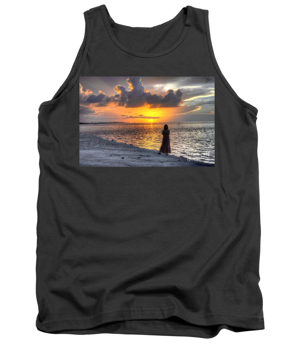 Sunrise Tank Top featuring the photograph Watching The Sunrise by Bruce Bain