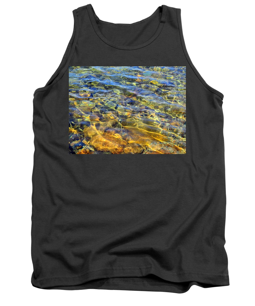 Pond Tank Top featuring the photograph Water Abstract by Lynda Lehmann