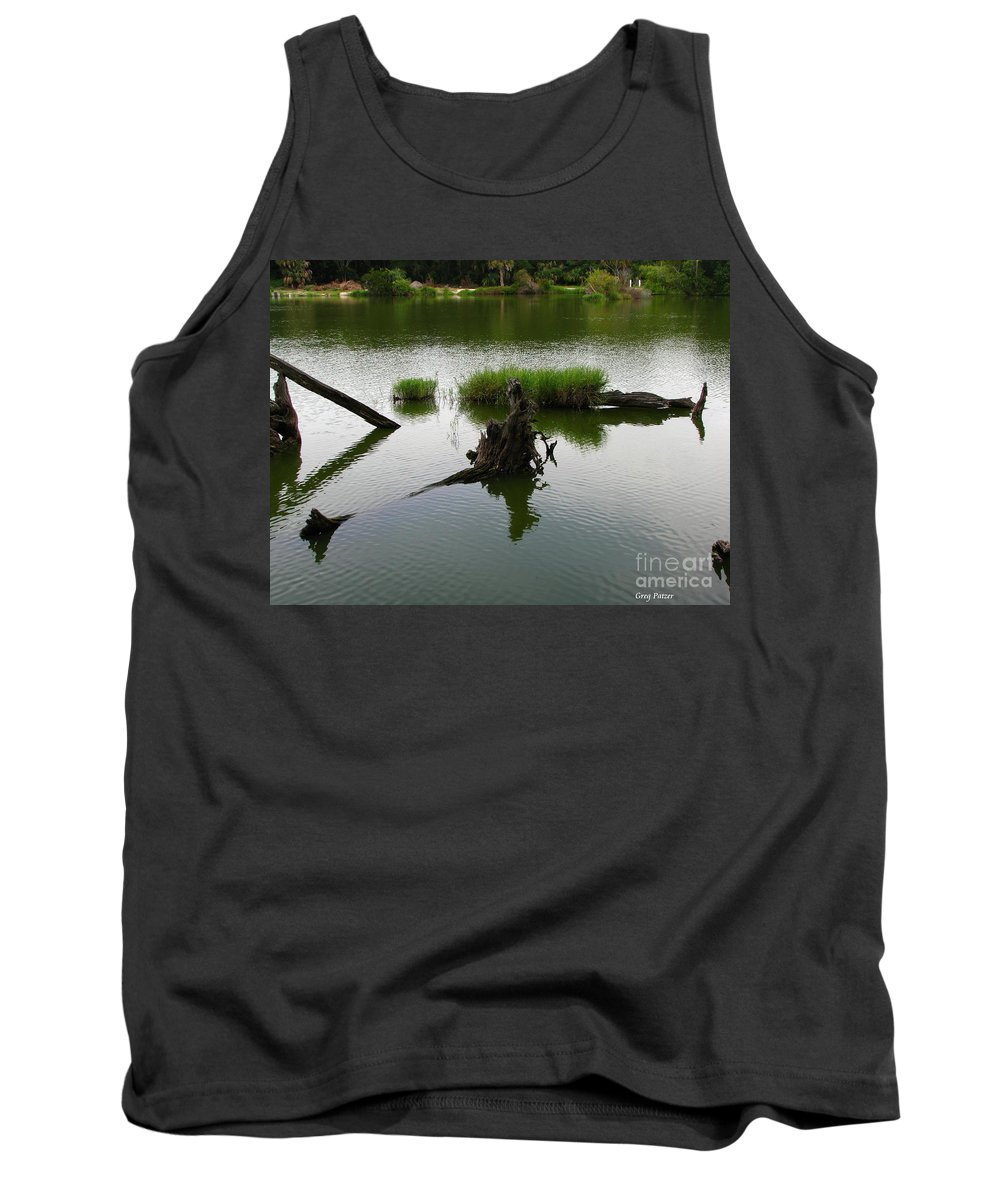 Art For The Wall...patzer Photography Tank Top featuring the photograph Water Art by Greg Patzer