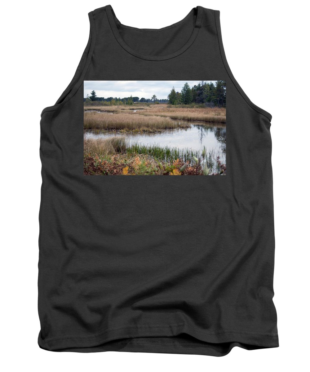 Nature Tank Top featuring the photograph Water Path by Linda Kerkau