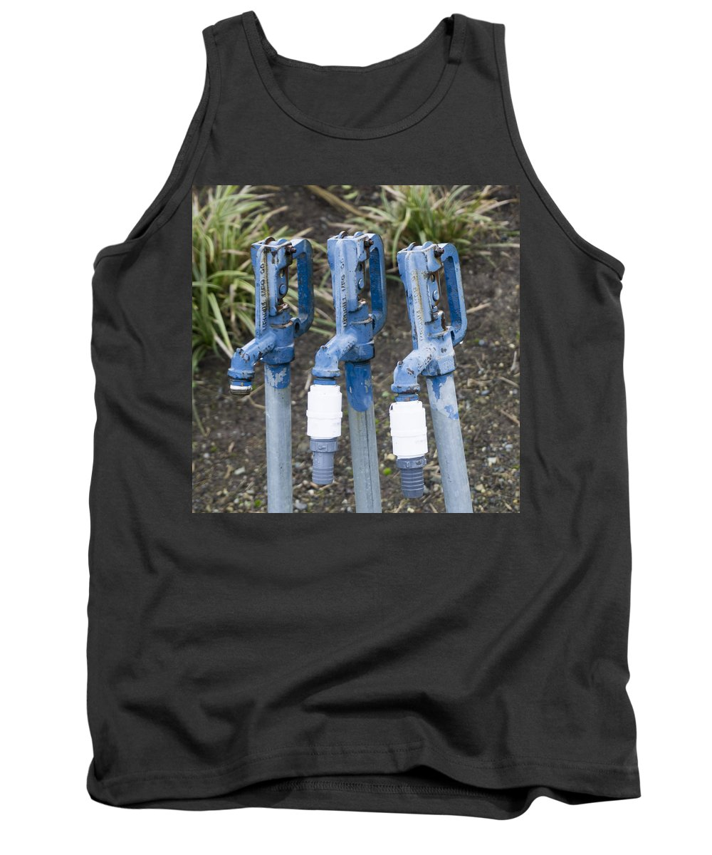 Tank Top featuring the photograph Water Water Water In Blue by Cathy Anderson