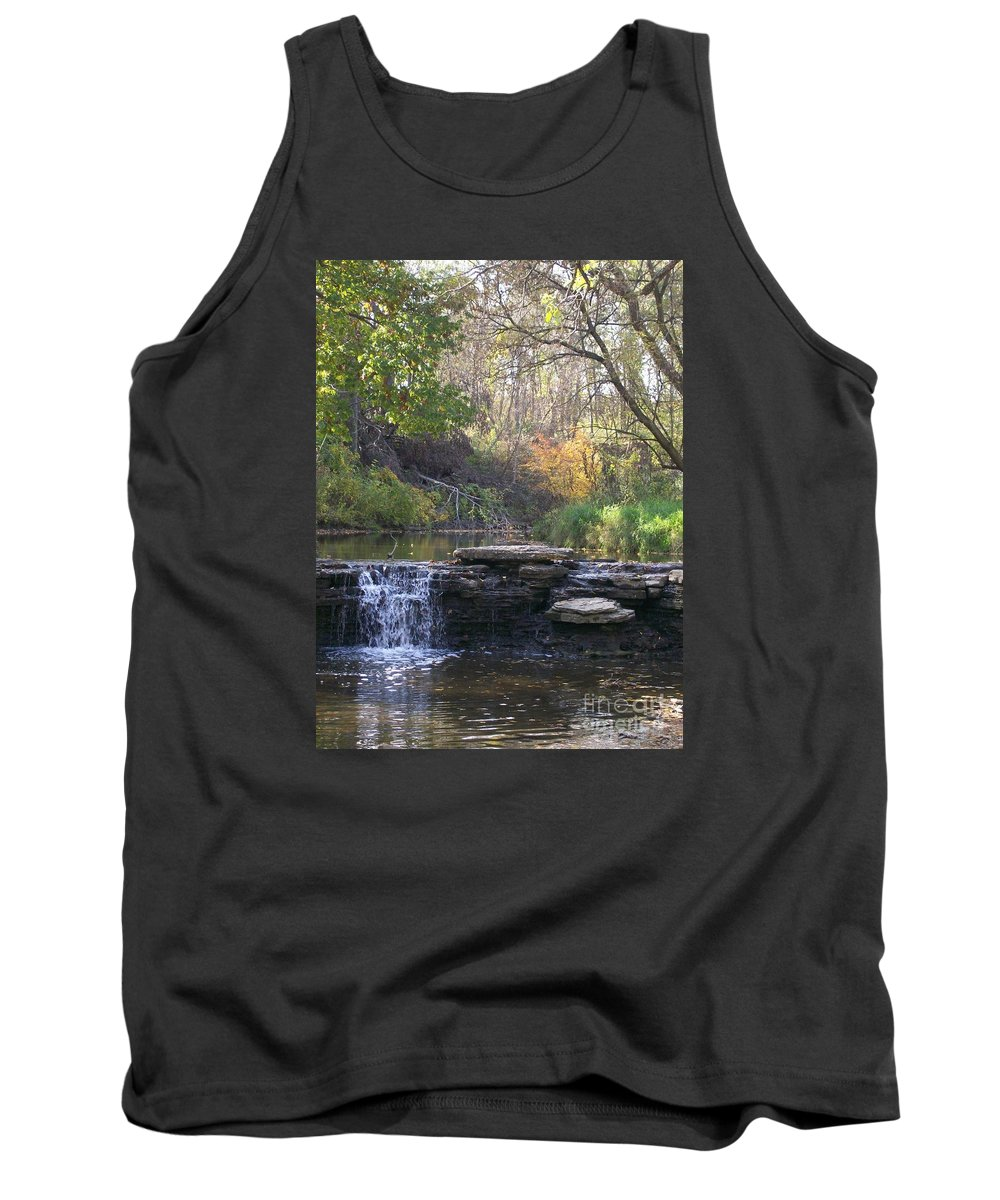 Water Tank Top featuring the photograph Waterfall Autumn by Laurie Eve Loftin